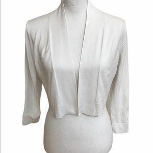Calvin Klein sweater short fly away shrug.  EUC